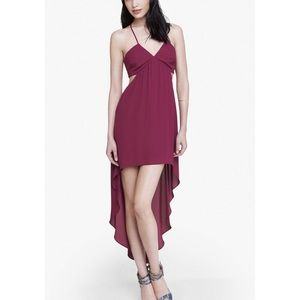 EXPRESS HALTER NECK CUT OUT HIGH LOW DRESS
